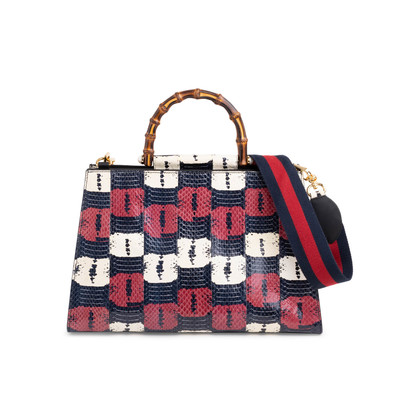Authentic Second Hand Gucci Nymphaea Snakeskin Bag (PSS-029-00061)