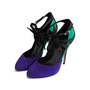 Authentic Second Hand Vionnet Colour Block Ankle Strap Pumps (PSS-805-00009) - Thumbnail 2