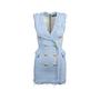 Authentic Second Hand Balmain Frayed Tweed Mini Dress (PSS-795-00001) - Thumbnail 0