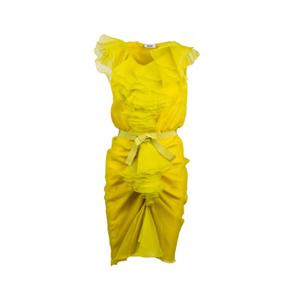 Authentic Second Hand Moschino Ruffled Organza Dress (PSS-795-00025)