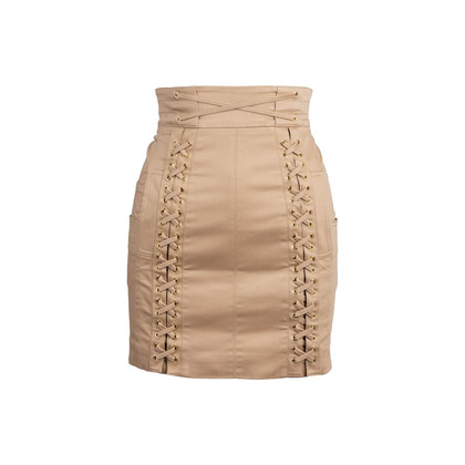 Authentic Second Hand Balmain Lace-Up Mini Skirt (PSS-795-00002)