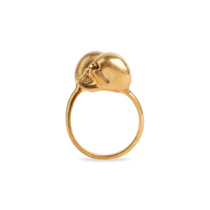 Authentic Second Hand Alexander McQueen Double Skull Ring (PSS-094-00024)