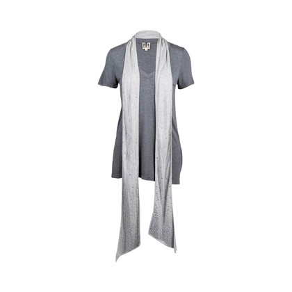 Authentic Second Hand Haute Hippie Tunic T-Shirt with Shawl (PSS-369-00083)