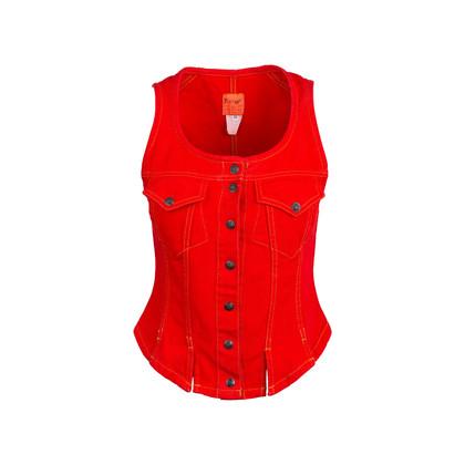 Authentic Second Hand Bazar De Christian Lacroix Denim Vest (PSS-304-00061)