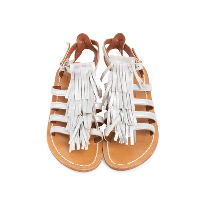 Authentic Second Hand K. Jacques Corsaire Fringe Sandals (PSS-097-00326)
