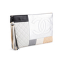 Authentic Second Hand Chanel Large Quilted Patchwork Pouch (PSS-097-00297) - Thumbnail 1