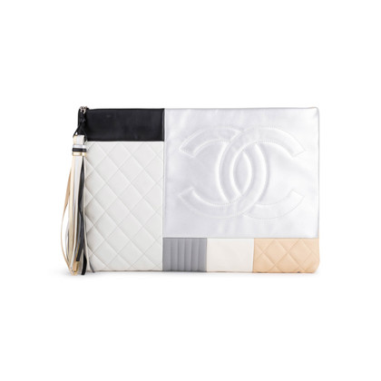 Authentic Second Hand Chanel Large Quilted Patchwork Pouch (PSS-097-00297)