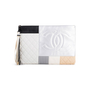 Authentic Second Hand Chanel Large Quilted Patchwork Pouch (PSS-097-00297) - Thumbnail 0
