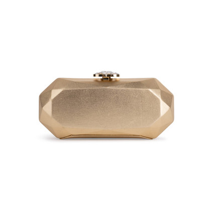 Authentic Second Hand Chanel Geometric Structured Clutch (PSS-097-00298)