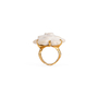 Authentic Second Hand Chanel Camelia Cacholong Ring (PSS-097-00303) - Thumbnail 0
