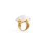 Authentic Second Hand Chanel Camelia Cacholong Ring (PSS-097-00303) - Thumbnail 1