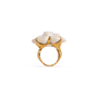 Authentic Second Hand Chanel Camelia Cacholong Ring (PSS-097-00303) - Thumbnail 3