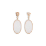 Authentic Second Hand (unbranded) Carved Ice Jade Earrings (PSS-097-00312) - Thumbnail 0