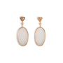 Authentic Second Hand (unbranded) Carved Ice Jade Earrings (PSS-097-00312) - Thumbnail 1