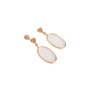 Authentic Second Hand (unbranded) Carved Ice Jade Earrings (PSS-097-00312) - Thumbnail 2