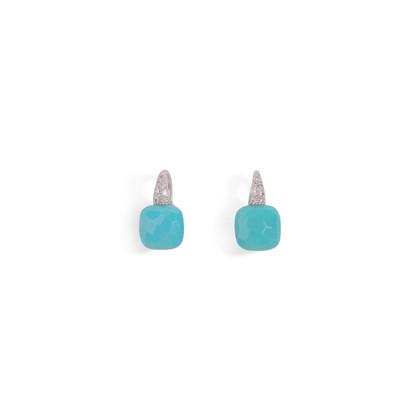 Authentic Second Hand Pomellato Capri Turquoise Diamond Earrings (PSS-097-00299)