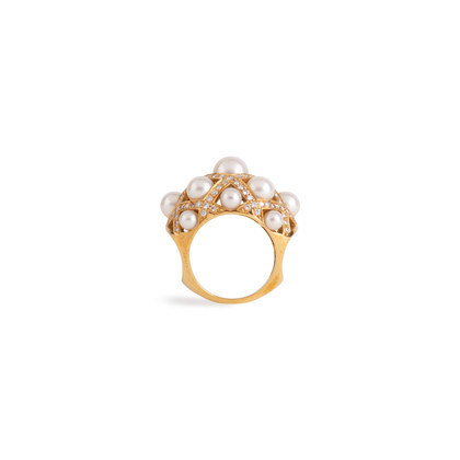 Authentic Second Hand Chanel Baroque Large Quilted Ring (PSS-097-00307)
