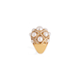 Authentic Second Hand Chanel Baroque Large Quilted Ring (PSS-097-00307) - Thumbnail 2