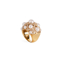 Authentic Second Hand Chanel Baroque Large Quilted Ring (PSS-097-00307) - Thumbnail 3