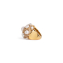 Authentic Second Hand Chanel Baroque Large Quilted Ring (PSS-097-00307) - Thumbnail 8