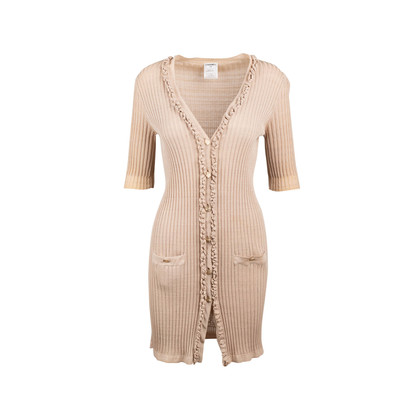 Authentic Second Hand Chanel Ruffled Button Down Dress (PSS-097-00483)