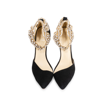 Authentic Second Hand Aminah Abdul Jillil Crystal Pumps (PSS-832-00004)