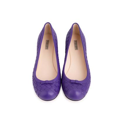 Authentic Second Hand Bottega Veneta Intrecciato Flats (PSS-837-00001)
