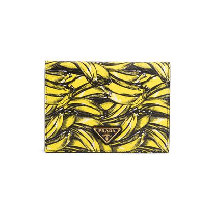 Authentic Second Hand Prada Banana Saffiano Passport Cover (PSS-145-00345)