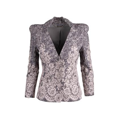 Authentic Second Hand Alexander McQueen Lace Appliqué Jacket (PSS-074-00196)