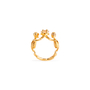 Authentic Second Hand Alexander McQueen Topaz Double Skeleton Ring (PSS-304-00105) - Thumbnail 5