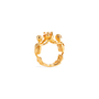 Authentic Second Hand Alexander McQueen Topaz Double Skeleton Ring (PSS-304-00105) - Thumbnail 6