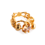 Authentic Second Hand Alexander McQueen Topaz Double Skeleton Ring (PSS-304-00105) - Thumbnail 9