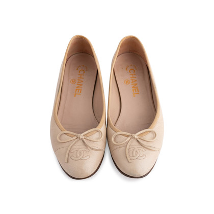 Authentic Second Hand Chanel Leather Ballerina Flats (PSS-304-00121)