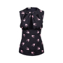 Authentic Second Hand Miu Miu Swallow Print Cut-Out Top (PSS-841-00012) - Thumbnail 0