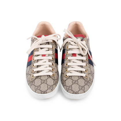 Authentic Second Hand Gucci New Ace GG Supreme Sneakers  (PSS-080-00293)