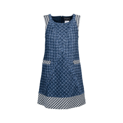 Authentic Second Hand Chanel Sleeveless Tweed Dress (PSS-080-00304)