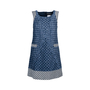 Authentic Second Hand Chanel Sleeveless Tweed Dress (PSS-080-00304) - Thumbnail 0