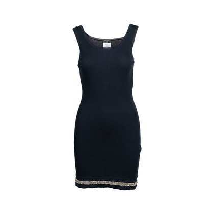 Authentic Second Hand Chanel Stretch Ribbed Dress (PSS-080-00309)