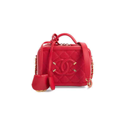 Authentic Second Hand Chanel Small Filigree Vanity Case Bag (PSS-143-00131)