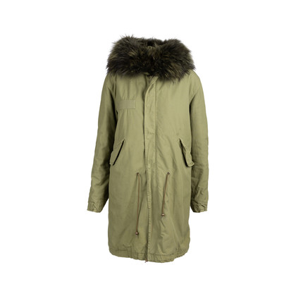 Authentic Second Hand Mr & Mrs Italy Fur Trim Parka Coat (PSS-220-00035)