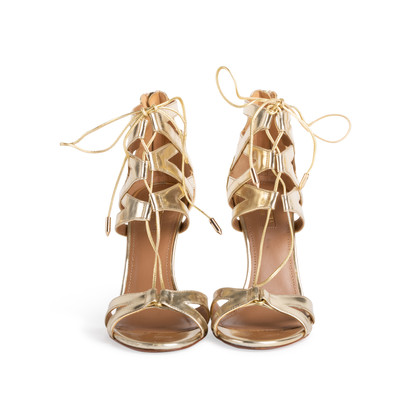 Authentic Second Hand Aquazzura Beverly Hills Lace up Sandal (PSS-097-00530)