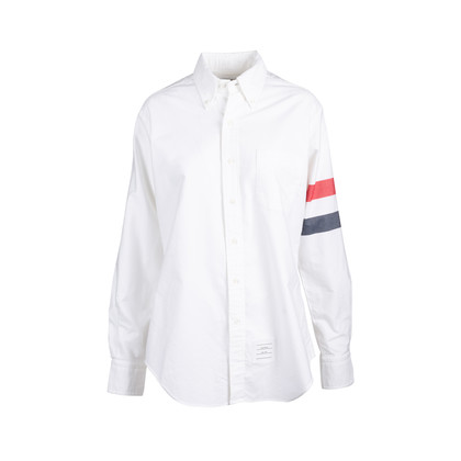 Authentic Second Hand Thom Browne 2-Bar Armband Oxford Shirt (PSS-859-00069)