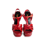 Authentic Second Hand Yves Saint Laurent Embossed Tribute Sandals (PSS-867-00051) - Thumbnail 0