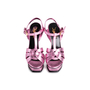 Authentic Second Hand Yves Saint Laurent Purple Metallic Tribute Sandals (PSS-867-00053) - Thumbnail 0