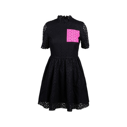 Authentic Second Hand MSGM Laser Cut Pattern Flared Dress (PSS-088-00078)