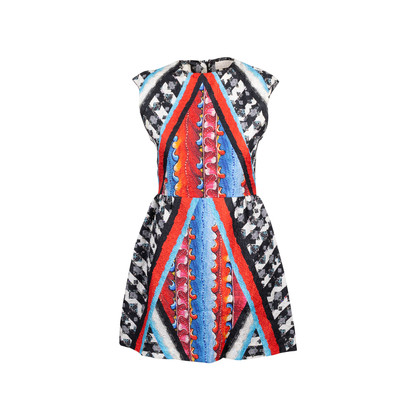 Authentic Second Hand Peter Pilotto Printed Dress (PSS-088-00109)