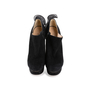 Authentic Second Hand Nicholas Kirkwood Ruffle Trimmed Suede Booties (PSS-088-00120) - Thumbnail 0