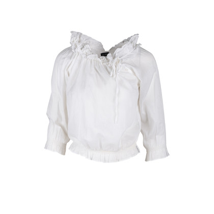 Authentic Second Hand Armani Jeans Ruffled Blouse  (PSS-047-00093)