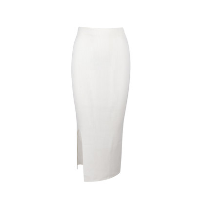 Authentic Second Hand Solace London Rib Knit Maxi Skirt (PSS-054-00207)