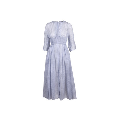 Authentic Second Hand Emilia Wickstead Madeleine Ruched Dress (PSS-054-00256)